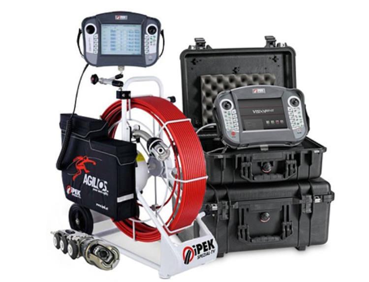 Equipo de última generación para la inspección de tuberías con cámara TV