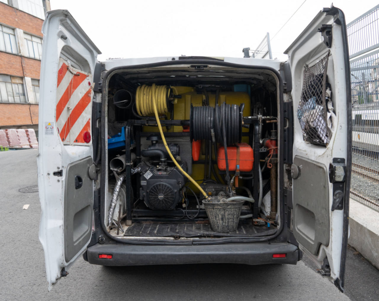 Unidad móvil de limpieza y desatasco de tuberías de Hidroclean Bilbao