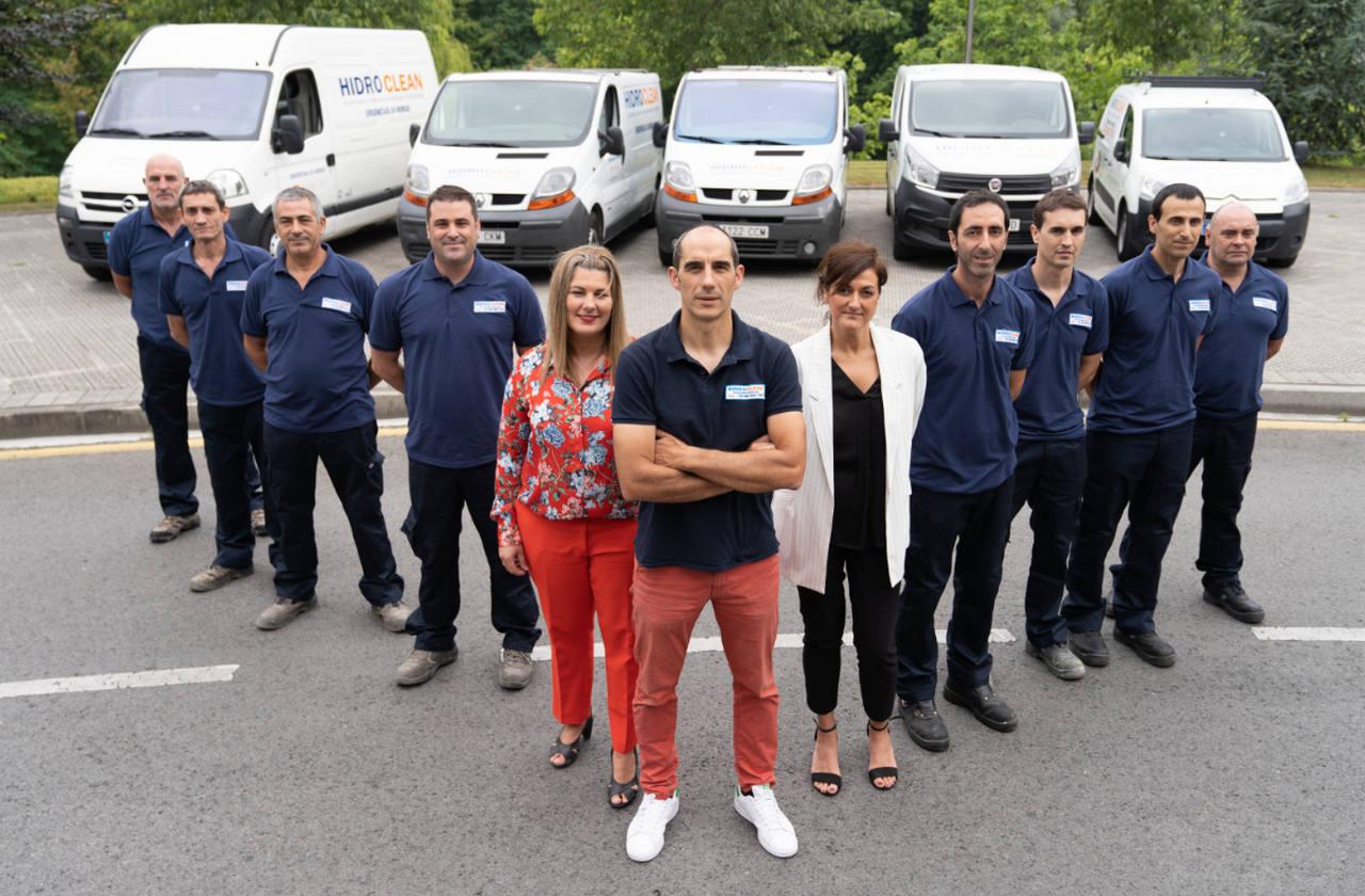 Equipo humano de Hidroclean Bilbao