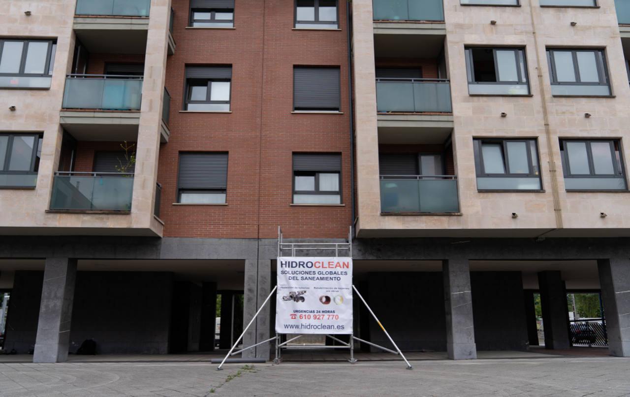 Mantenimiento de la red de saneamiento de una comunidad de propietarios en Bizkaia