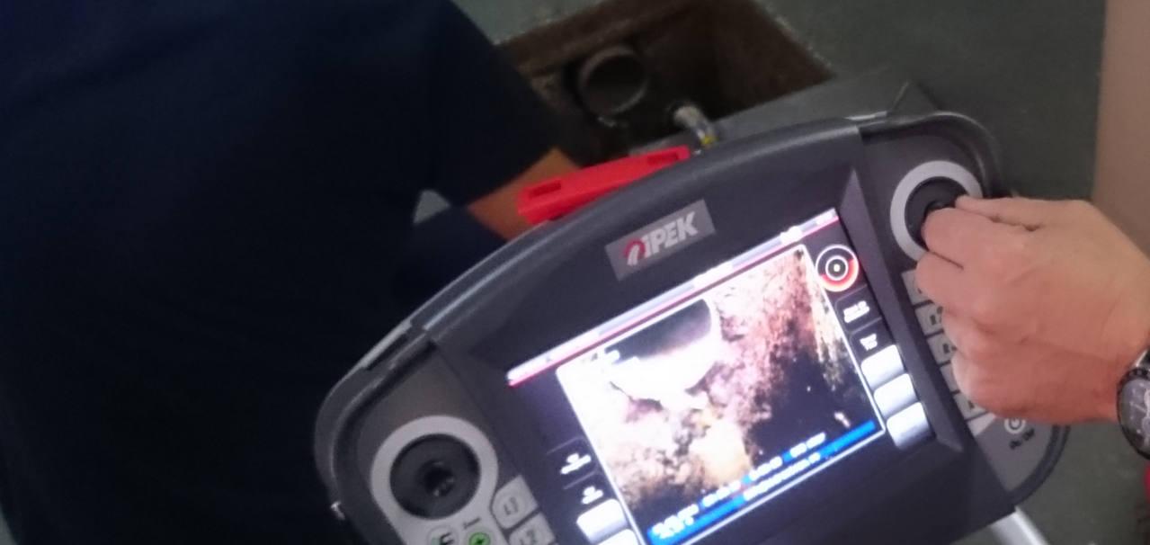 Monitor para inspección de tuberías con cámara TV