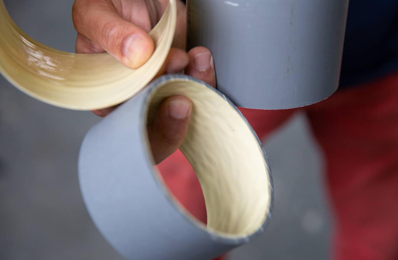 Diferentes tipos de tuberías rehabilitadas