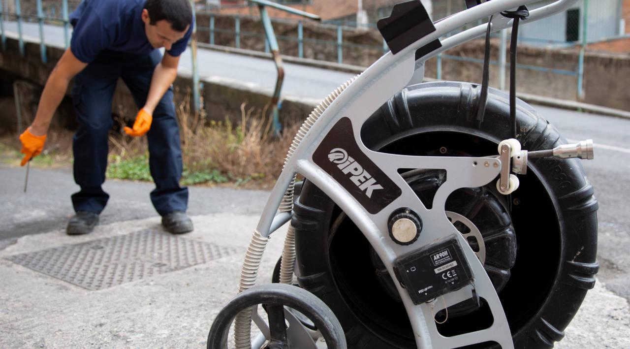 Equipo de inspección de tuberías con cámara tv de Hidroclean Bilbao