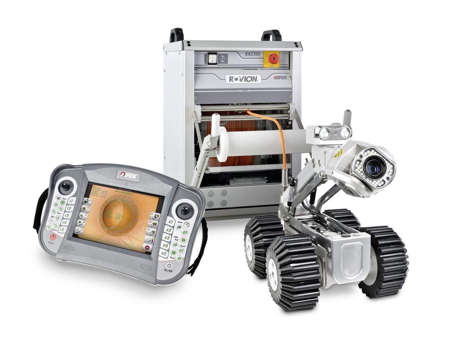 Equipos para la inspección robotizada de tuberías con cámara TV