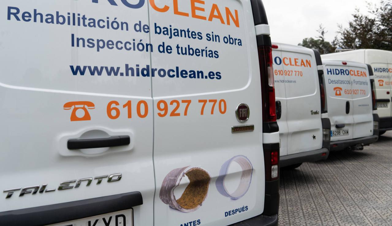Unidades móviles de Hidroclean Bilbao