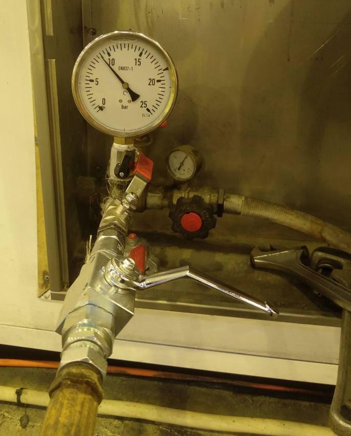 prueba hidrostática del sistema contra incendios
